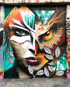 @themuseumofurbanart A mural by tattoo artist @shnioka in Vilnius, Lithuania.