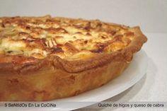 Quiche de higos, queso de cabra y reducción de Módena Tapas, Sweet Desserts, Apple Pie, Lasagna, French Toast, Appetizers, Cooking, Breakfast, Ethnic Recipes