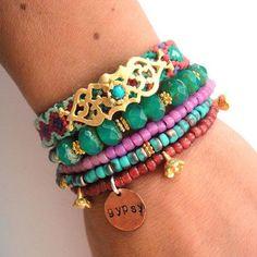 Bracelets Trends  : armband multi gold boho bracelet | Mirazo  Shop voor Ibiza sieraden Bohemian f