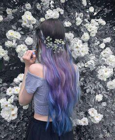 Cr on pic Pretty Hair Color, Alternative Hair, Coloured Hair, Bright Hair, Dye My Hair, Purple Hair, Hair Looks, Pretty Hairstyles, Bunt