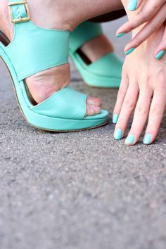 Touch of turquoise at the office.