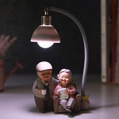 DecBest Couple Night Light Resin Crafts Ornaments Retro Lovers Miniature Figurines LED Lamp Ideal Gifts is Multicolor-NewChic Mobile Cute Love Wallpapers, Cute Couple Wallpaper, Cute Wallpaper Backgrounds, Cute Cartoon Wallpapers, Iphone Wallpapers, Cute Cartoon Pictures, Cute Love Pictures, Cute Love Cartoons, Miniature Photography