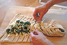 Braided Savory Spinach, Feta, and Pine Nut Pastry   Artisan Bread in Five Minutes a Day