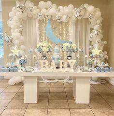 Twinkle Twinkle Little Star Boy Baby Shower TheIcedSugarCookie.com Angie's Dream Decorations #babyshowerideas