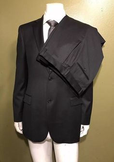 c91a17b20 Recent Hugo Boss Pasolini/Movie Suit charcoal Solid flat front pants W36x34  #fashion #
