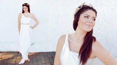 faschingskostüme schnell griechische goettin lorbeerkranz weiss kleid ohne naehen