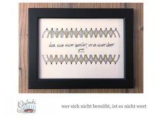 Tunella's Geschenkeallerlei präsentiert: Faser- und Gelstift auf Papier - Doodelei - wer sich nicht bemüht, ist es nicht wert #TunellasGeschenkeallerlei #Doodelei #Faserstift #Gelstift #handgemacht #Geschenk #Weisheit #Sprüche Doodle, Etsy Seller, Unique Jewelry, Handmade Gifts, Frame, Decor, Paper, I'm Worth It, Life Motto