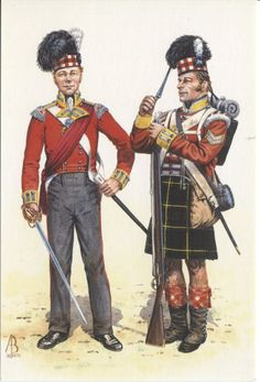 Alix Baker Postcard - AB.S/10 Officer and Corporal, 92nd (Highland) Regiment of Foot, 1815