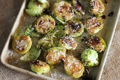 balsamic roasted brussels sprouts with parmesan