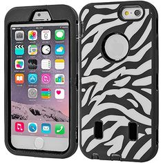 """myLife Layered Protection """"Built In Screen Protector"""" Heavy Duty Case for iPhone 6 Plus (5.5"""" Inch) by Apple {Envelope White + Tar Black """"Rubberized Animal Print"""" Three Piece SECURE-Fit Rubberized Gel} myLife Brand Products http://www.amazon.com/dp/B00QKYVUHC/ref=cm_sw_r_pi_dp_PXIHub166CE5H"""