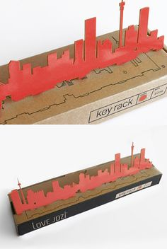 A wide laser-cut steel version of our Skyline graphic. Seven small hooks make it ideal for hanging keys on. Two screws in the same colour of the rack are included, and the product is packaged in a simple corrugated box. Johannesburg Africa, Johannesburg Skyline, Africa Craft, Laser Cut Steel, Key Rack, Home Collections, Trust, African, Creative