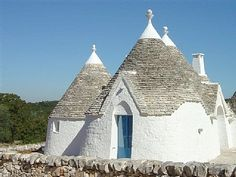 Trullo. These cute little beehive buildings - trulli - were originally used as agricultural storehouses.  Native to Apulia a lot of them have been transformed into chichi little holiday cottages.