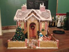 Gingerbread Arched Entry and Picket Fence