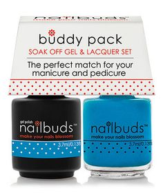 This Cowboy's Larkspur Gel Polish & Nail Lacquer Buddy Pack by Nailbuds is perfect! #zulilyfinds