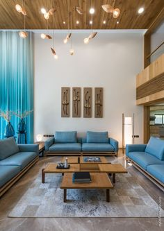 Image 2 of 44 from gallery of The Screen House / The Grid Architects. Photograph by Photographix India Living Room Sofa Design, Living Room Interior, Home Interior Design, Drawing Room Interior, Drawing Room Wall Design, Sofa Drawing, House Drawing, Screen House, Indian Living Rooms