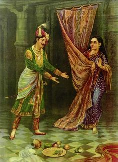 Keechaka and Sairandhri (Reprint on Paper - Unframed))