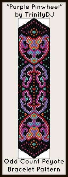 """NEW AND EXCITING NEWS : Here's your chance to test bead new designs and earn DISCOUNTS on your next 'In the Raw' Design! """"Purple Pinwheel"""" (Odd Count Peyote stitch bracelet pattern) is one of the designs in this section. Please follow this link for more info: http://cart.javallebeads.com/Purple-Pinwheel-Odd-Count-Peyote-Pattern-p/td082.htm"""