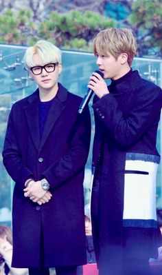 bangtan boys jin & suga (sidenote: does jin look just like mark here or is it just me???)
