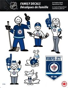 NHL WINNIPEG JETS STICK PEOPLE FAMILY DECALS ~ FULL COLOR VINYL DECALS
