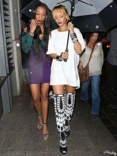 You can stand under my umbrella ella ella   #Rihanna #StreetStyle #CelebStyle