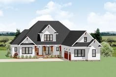 Country Craftsman House Plan With Optional Second Floor A covered entry porch with a large gable centered above and a courtyard-entry garage greet you to this country Craftsman house plan.The center of the home gives you an open floor… Continue Reading → Garage House Plans, Craftsman House Plans, Best House Plans, Bedroom House Plans, Dream House Plans, House Floor Plans, Ranch Floor Plans, Dream Houses, Courtyard Entry