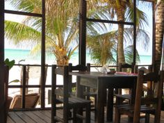 On an island this size, you're almost always assured a table with a view.