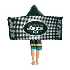 New York Jets NFL Youth Hooded Beach Towel