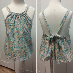 One little girl will be happy. She will have a top like her aunty Jess from @mileyandbailey  makes for big people. The next one will have a ruffle around the neck. Rompers like this  oming soon too. #sharhandmadeembellishments#trendykiddies#missfashionista#haltertop#summer#shop3280 by sharhandmadeembellishments