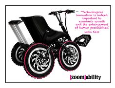 The Zoom. An all terrain mobility device that can conquer uneven surfaces, sand and even snow. A Free Mind in Motion.