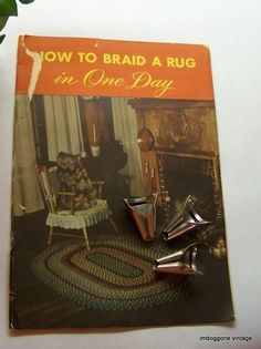 Vintage Rug Braiding Folders Nu Flex Corp 1940s Braided Tools Pamplet Lacer Needle