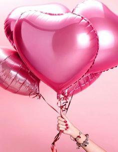 Ballons in pinky Pink zum Valentinstag #valentinstag #herzen #hearts