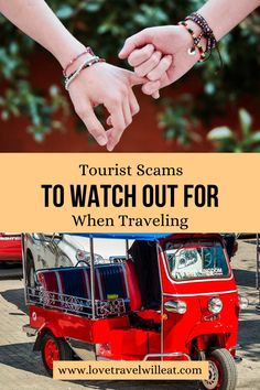 As travelers, vacationers, honeymooners, or backpackers, we are all prime targets for scammers. Here are a few tourist scams to watch out for. Travelling Tips, Packing Tips For Travel, Travel Advice, Travel Essentials, Budget Travel, Travel Guides, Travel Hacks, Travel Gadgets, Travel Usa
