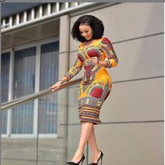 Ankara Short Gown Dresses: Styles for Female 2019 Ankara Short Gown Dresses, Ankara Dress Styles, African Print Dresses, African Print Fashion, African Fashion Dresses, African Dress, Fashion Outfits, Ankara Fashion, Africa Fashion