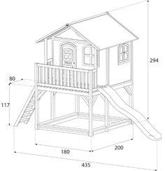 Wooden children's playhouse on stilts sandpit garden house interior dimensions from the playground equipment dealer – Spielturm selber bauen Kids Backyard Playground, Backyard Playset, Backyard Playhouse, Build A Playhouse, Backyard For Kids, Kids Cubby Houses, Play Houses, Childrens Wooden Playhouse, Tree House Plans