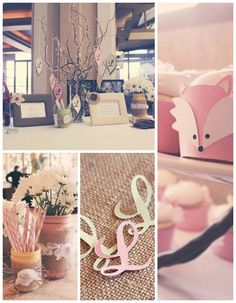 baby+shower+ideas+for+girls | Vintage Woodland Girly Fox Baby Shower {Party, Planning, Decor, Ideas}