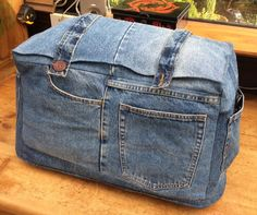Recycled Denim Sewing Machine Cover