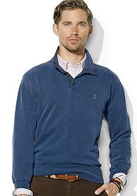 Polo Ralph Lauren Buttoned Fleece Mockneck Pullover
