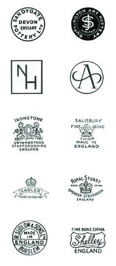 vintage ceramic back stamps