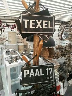 Paal 17, Texel, Noord-Holland.