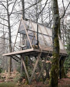 """designboom magazine on Instagram: """"'stedsans in the woods' is a remote permaculture farm and retreat in #sweden. conceived by @lendagergroup as a lab for discovering better…"""""""