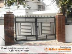 Stainless Steel Gates Manufacturer in Chandigarh, Mohali, Ludhiana, Jalandhar. Iron Main Gate Design, Gate Wall Design, Grill Gate Design, House Main Gates Design, Steel Gate Design, Wooden Main Door Design, Gate Designs Modern, Modern Front Gate Design, Simple Gate Designs