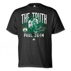"""adidas Paul Pierce """"The Truth"""" Playoff T-Shirt -- a must have!! #Truthing #celtics"""