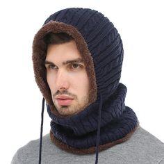 fce2ef42018 Winter Knitted Hat Beanie Men Scarf Skullies Beanies Winter Hats For Women  Men Caps Gorras Bonnet Mask Brand Hats 2018