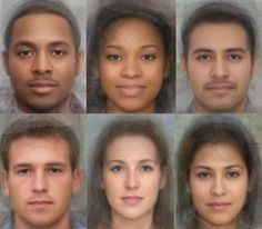 The World's Most Average Faces
