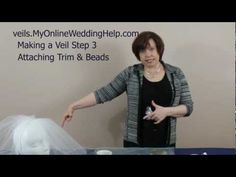 Attaching Beading & Trim to Your Veil: Step 3 in How to Make Bridal Veils Series Veil Diy, Diy Wedding Veil, Wedding Gifts For Bridesmaids, Wedding Crafts, Budget Wedding, Wedding Blog, Wedding Stuff, Wedding Ideas, Bridal Cuff