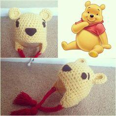 Winne the Pooh crochet hat