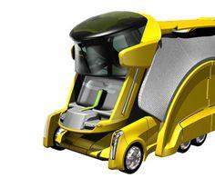 Innovation Transportation, Chameleon Truck, Cargo Transport, futuristic vehicle, futuristic design