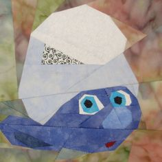Clumsy Smurf  paper pieced pattern