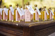 """Olive Our Love"" Olive oil as a wedding favor..."