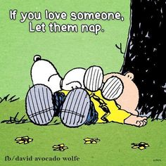 If you love someone let them nap.